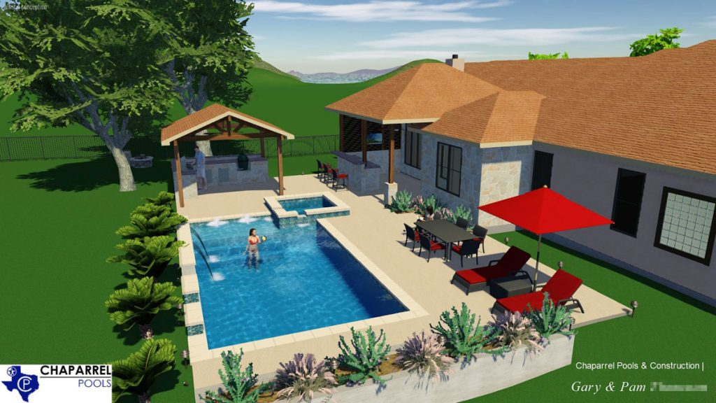 Georgetown TX Pool Rendering