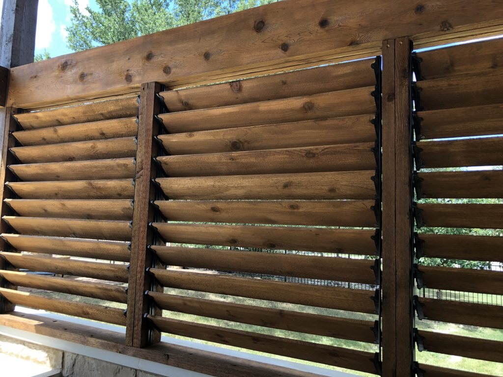 louvered cedar slat blinds