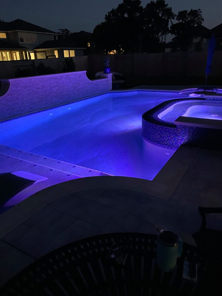 Leander Pool at Night